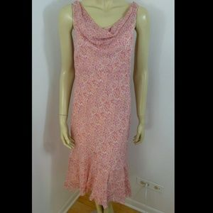 100% SILK Ann Taylor pink  dress